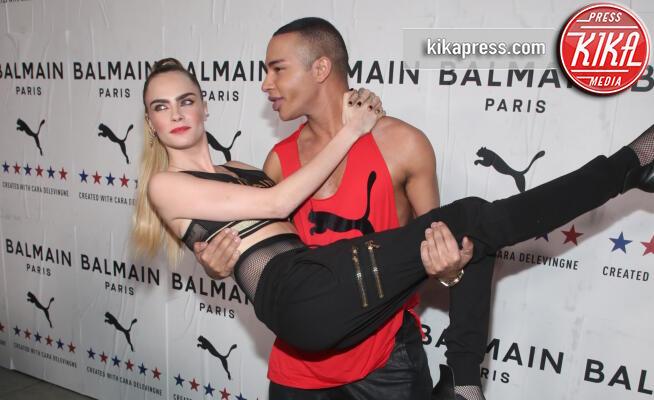 Olivier Rousteing, Cara Delevingne - LA - 21-11-2019 - Cara Delevingne stilista, la sua firma per Balmain for Puma
