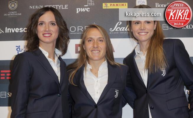Barbara Bonansea, Valentina Cernoia, Cecilia Salvai - Milano - 02-12-2019 - Gran Galà del Calcio: il red carpet è donna