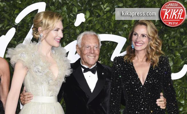 Giorgio Armani, Cate Blanchett, Julia Roberts - Londra - 02-12-2019 - British Fashion Awards: Armani, Blanchett, Roberts, che trio!