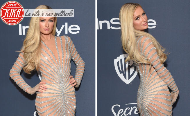 Paris Hilton - 06-01-2020 - Golden Globes 2020: al party InStyle, Paris è trasparente!