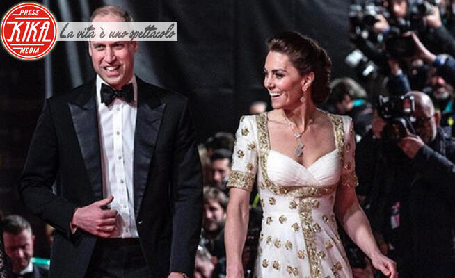 Principe William, Kate Middleton - Londra - Bafta 2020, William e Kate vittime della goliardia di Brad Pitt