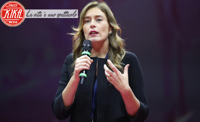 Maria Elena Boschi - Roma - 02-02-2020 - Italia Viva, Maria Elena Boschi sul palco con Matteo Renzi