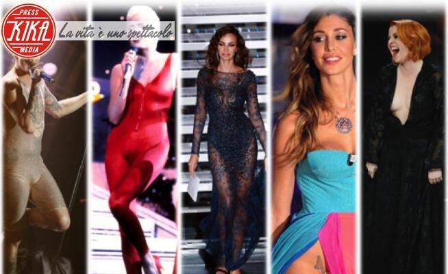 05-02-2020 - Sanremo: dalla Oxa alla farfallina, gli abiti sexy del Festival