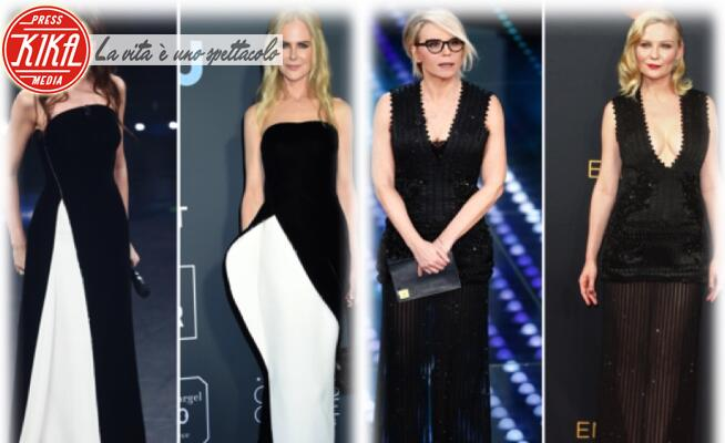 Virginia Raffaele, Maria De Filippi, Kirsten Dunst, Nicole Kidman - 06-02-2020 - Sanremo contro Hollywood: chi lo indossa meglio?