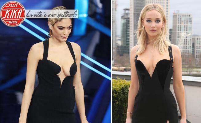 Elodie, Jennifer Lawrence - Sanremo - 08-02-2020 - Sanremo 2020, Elodie e Jennifer Lawrence: chi lo indossa meglio?