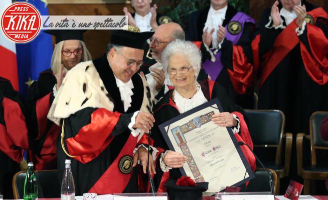 Rettore Eugenio Gaudio, Liliana Segre - Roma - 18-02-2020 - Liliana Segre riceve il Dottorato Honoris Causa alla Sapienza