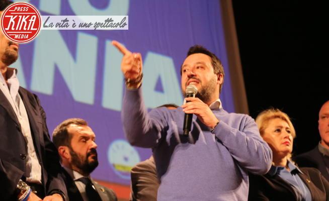 Matteo Salvini - Napoli - 18-02-2020 - Matteo Salvini, bagno di folla a Napoli al Teatro Augusteo