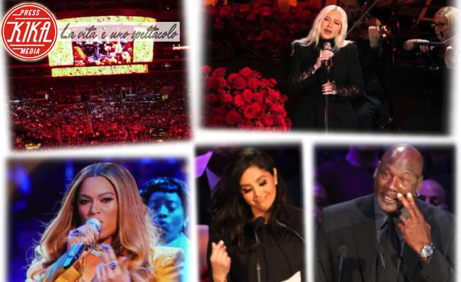 Vanessa Bryant, Michael Jordan, Kobe Bryant, Christina Aguilera, Beyonce Knowles - 25-02-2020 - L'addio a Kobe Bryant: sul palco Beyoncé, Aguilera, Alicia Keys