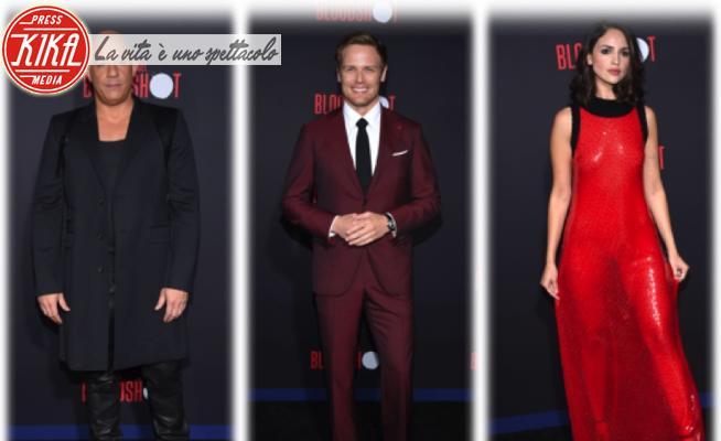 Eiza Gonzales, Sam Heughan, Vin Diesel - 11-03-2020 - Vin Diesel, Sam Heughan, Eiza Gonzales: il trio di Bloodshot