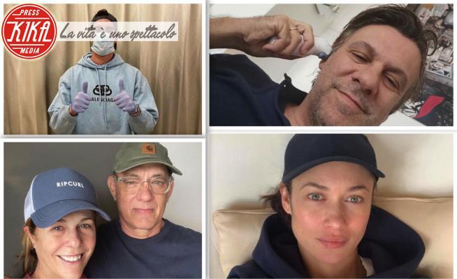 Dusan Vlahovic, Nicola Porro, Olga Kurylenko, Tom Hanks, Rita Wilson - Londra - 16-03-2020 - Coronavirus, tutte le celebrità contagiate