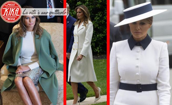 Melania Trump in cappotto Gucci da circa 3mila euro