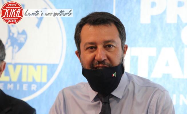 Matteo Salvini - Napoli - 05-06-2020 - Matteo Salvini a Napoli: la mascherina è sempre abbassata