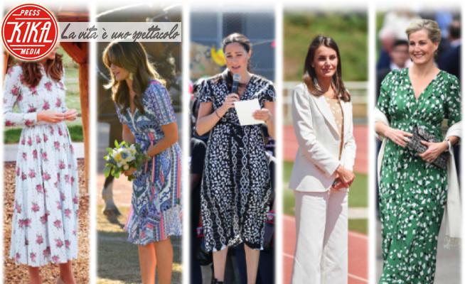 Principessa Sofia di Svezia, Meghan Markle, Contessa Sofia di Wessex, Kate Middleton, Letizia Ortiz - 11-06-2020 - Zeppe