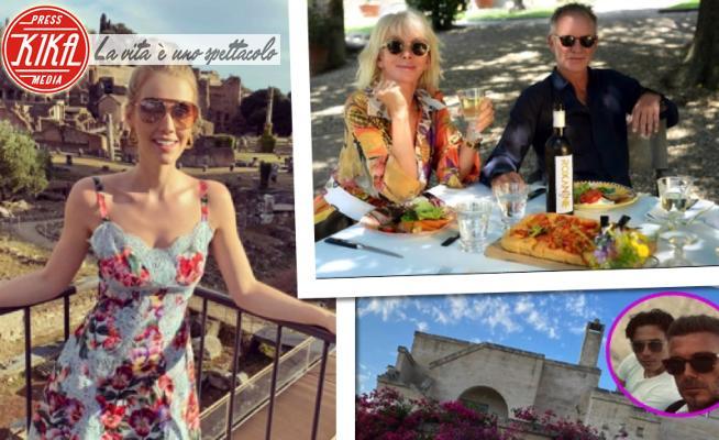 Lady Kitty Spencer, Brooklyn Beckham, Trudie Styler, David Beckham, Sting - Roma - 24-07-2020 - Estate 2020: i Beckham in Puglia, Lady Kitty Spencer a Roma