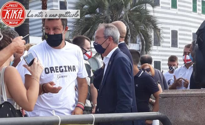 Matteo Salvini - Rapallo - 02-09-2020 - Bagno di folla per Matteo Salvini a Rapallo