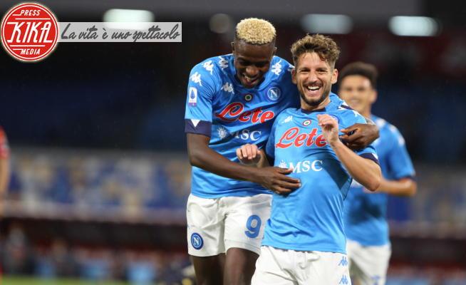 Osimhen Victor, Dries Mertens - Napoli - 27-09-2020 - Napoli show al San Paolo, sei a zero al Genoa