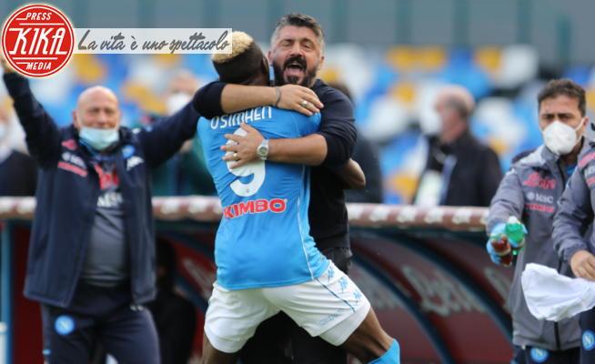 Victor James Osimhen, Gennaro Gattuso - Napoli - 17-10-2020 - Napoli Atalanta 4-1. Scacco matto di Gattuso a Gasperini