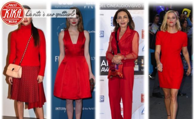 Matilde Gioli, Maria Rosaria Omaggio, Emma Stone, Reese Witherspoon - 17-12-2020 - Natale 2020: Natale con i tuoi... ma sempre in rosso!