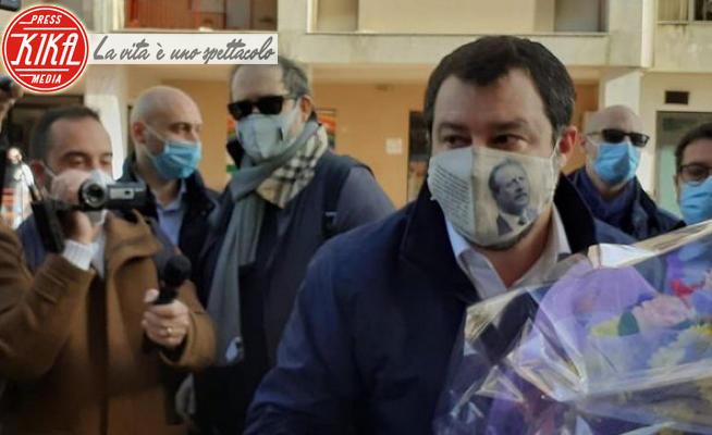Matteo Salvini - Palermo - 08-01-2021 - Da Trump a Borsellino, la sfida del Salvini mascherato
