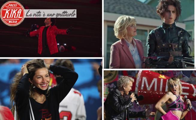 The Weeknd, Timothée Chalamet, Miley Cyrus, Billy Idol, Winona Ryder, Gisele Bundchen - Tampa - 08-02-2021 - Super Bowl 2021, da Chalamet Mani di forbice a The Weeknd