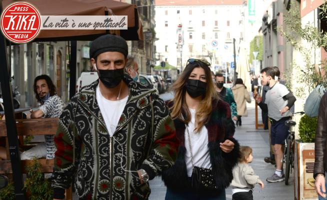 Roberta Fontana, Andrea Montovoli - Milano - 26-02-2021 - Andrea Montovoli e Roberta Fontana in love a Milano