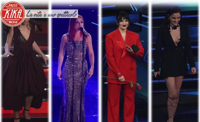 Matilda De Angelis, Arisa, Annalisa Scarrone, Noemi - Sanremo - 03-03-2021 - Sanremo 2021, i look della prima serata