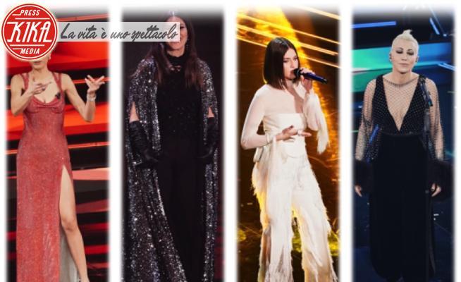 Gaia Gozzi, Elodie, Malika Ayane, Laura Pausini - Sanremo - 04-03-2021 - Sanremo 2021, i look della seconda serata