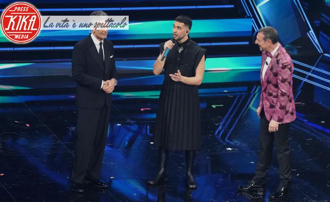 Mahmood, Fiorello, Amadeus - Sanremo - 06-03-2021 - Sanremo 2021, le immagini della quarta serata