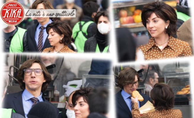Adam Driver, Lady Gaga - Milano - 12-03-2021 - Lady Gaga a Milano per House of Gucci non resiste ai panzerotti!