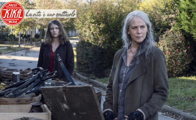 Melissa McBride, Lauren Cohan - Los Angeles - 13-11-2020 - The Walking Dead - decima stagione: foto di scena