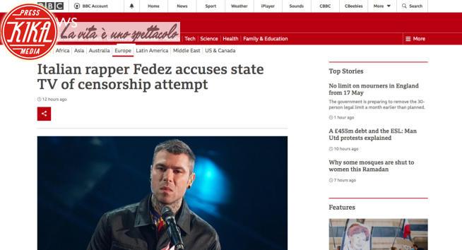 Fedez - Fedez contro la Rai finisce sulla BBC (e non solo)