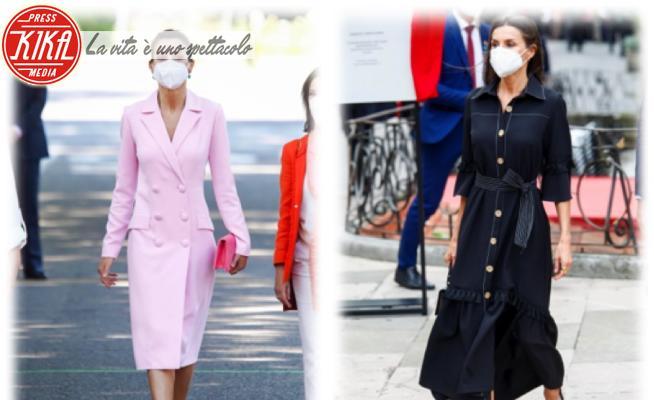 Letizia Ortiz - 01-06-2021 - Letizia di Spagna bella in rosa... ma anche in nero!