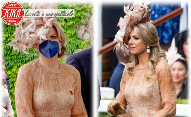 Regina Maxima d'Olanda - 06-07-2021 - Maxima d'Olanda, l'abito riciclato per incontrare Angela Merkel