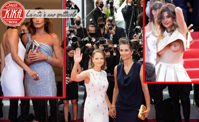 Bella Hadid, Carla Bruni, Alexandra Hedison, Jodie Foster - Cannes - 06-07-2021 - Cannes 2021, il red carpet tra scandali e curiosità