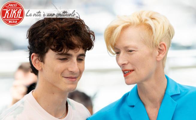Timothée Chalamet, Tilda Swinton - Cannes - 13-07-2021 - Cannes 2021,il cast all star di The French Dispatch al photocall