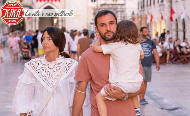 Martina Badelj, Milan Badelj - Dubrovnik - 11-07-2021 - Milan Badelj, relax in Croazia con la moglie Martina e il figlio