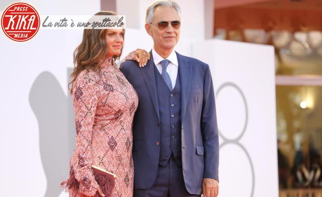 Veronica Berti, Andrea Bocelli - Venezia - 02-02-2021 - Venezia 78, Andrea Bocelli consulente per la serie Rai Blanca