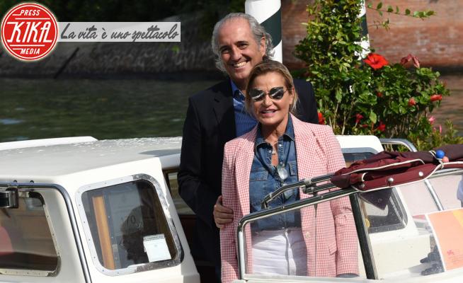 Giovanni Terzi, Simona Ventura - Venezia - 07-09-2021 - Venezia 78, Simona Ventura al Lido nei panni di regista