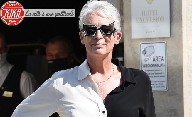 Jamie Lee Curtis - Lido di Venezia - 08-09-2021 - Venezia 78, Jamie Lee Curtis in bianco e nero