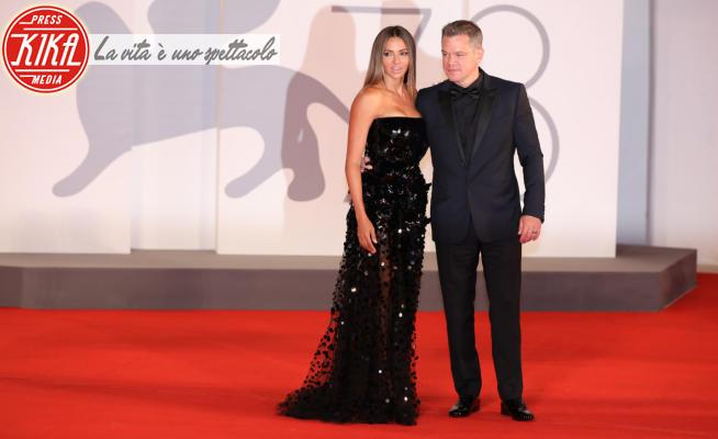 Luciana Barroso, Matt Damon - Venezia - 06-02-2021 - Venezia 78, vedo-non-vedo sul red carpet di The Last Duel