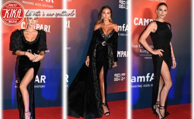 Giulia De Lellis, Madalina Ghenea, Nina Senicar - 11-09-2021 - De Lellis, Senicar, Ghenea: dark ladies all'Amfar Gala