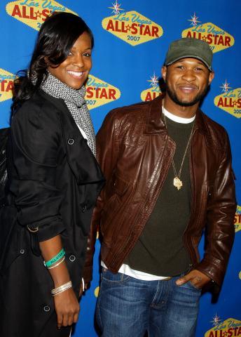 Tameka Foster, Usher - Las Vegas - Usher abbandona i Grammy per un urgente problema familiare