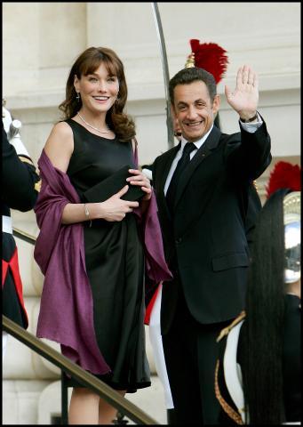 Nicolas Sarkozy, Carla Bruni - Parigi - 14-07-2008 - Nicolas Sarkozy premia Alessandra Martines