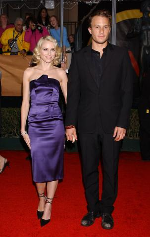 Heath Ledger, Naomi Watts - Los Angeles - 22-02-2004 - Naomi Watts piange ancora per Heath Ledger