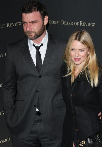 Liev Schreiber, Naomi Watts - New York - 14-01-2009 - Naomi Watts piange ancora per Heath Ledger