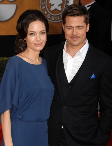Angelina Jolie, Brad Pitt - Los Angeles - 25-01-2009 - Il Curioso Caso di Benjamin Button e' ispirato a un libro italiano