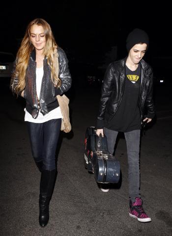 Samantha Ronson, Lindsay Lohan - Los Angeles - 24-02-2009 - Lindsay Lohan ha duettato con Samantha Ronson