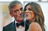 Elisabetta Canalis, George Clooney - Venezia - 10-09-2009 - George Clooney smentisce le voci di una rottura con Elisabetta Canalis