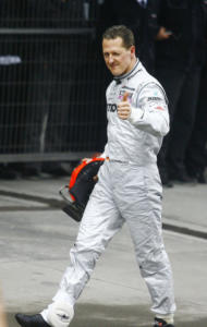 Michael Schumacher - Shanghai - 18-04-2010 - Michael Schumacher uscito dal coma indotto