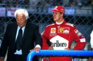 Giovanni Agnelli, Michael Schumacher - Strasburgo - 23-11-1953 - Michael Schumacher uscito dal coma indotto